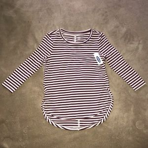 Old Navy red stripe 3/4 sleeve for girls. NWT